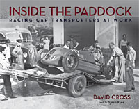 The actual cover of this book on racing car transporters
