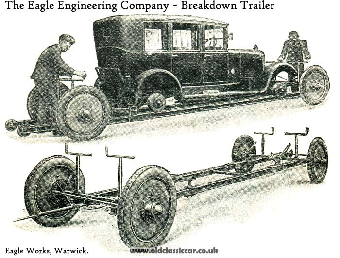 Photograph of the recovery trailer
