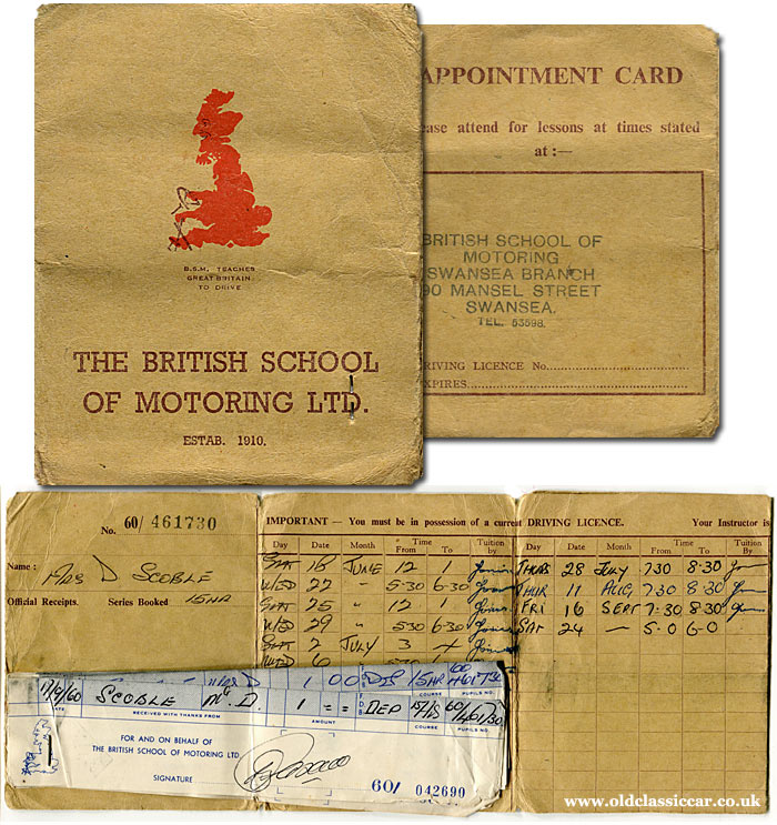 More driving lessons booked, in Swansea 1960