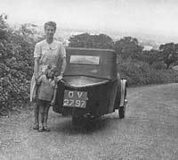 Rear view of a BSA three-wheeler 1931/1932