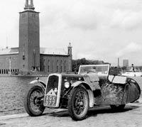 1933 BSA three-wheeler in Stockholm
