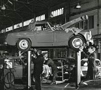 MG being serviced