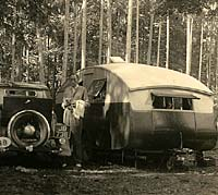 Front view of the caravan in Germany