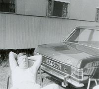 Ford Cortina Mk2 & a caravan