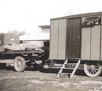 1927 Chevy truck towing a caravan