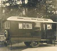 The vintage Eccles caravan on its own