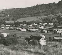 Bewdley caravan park in 1951