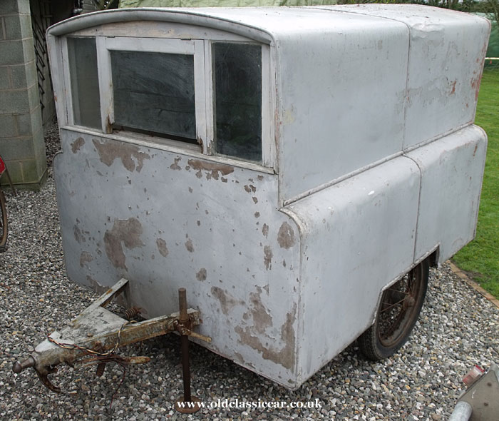 Rare one-man caravan from the 1940s