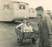 Children and caravans