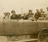 More passengers in a vintage char-a-banc