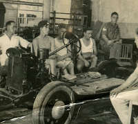 1940s car chassis