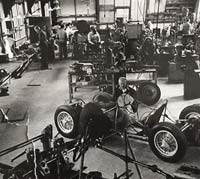 Connaught's workshop in the 1950s