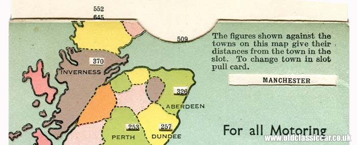 Distance between Manchester and Aberdeen