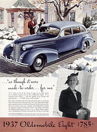 Advert for the 1937 cars