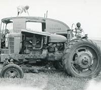 Side view of a Model H tractor