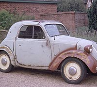 1937 Topolino, prior to restoration