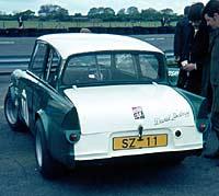 David Lindsay's Anglia 105E racing car