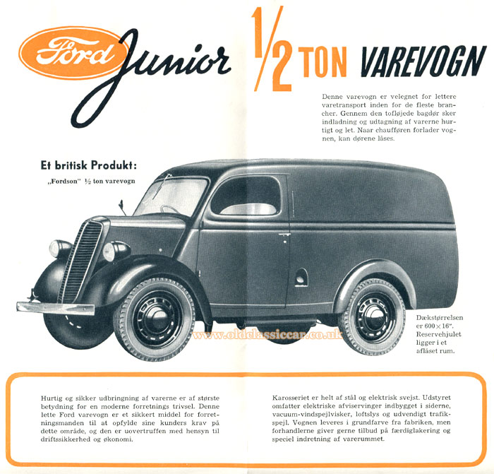Brochure cover for a Danish-market E83W