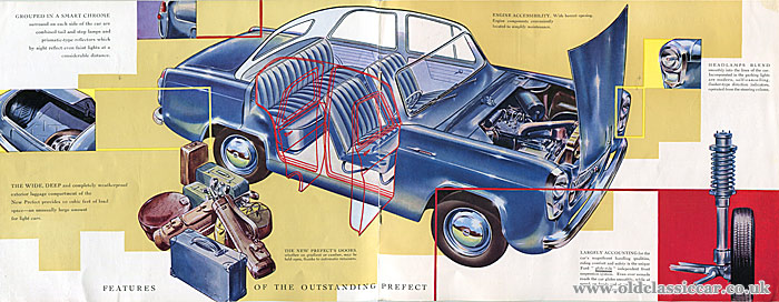 Cutaway drawing of the car