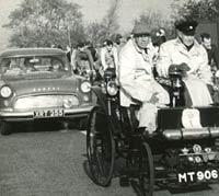 1958 Consul and an 1896 Arnold car