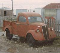 Rare metal-back E83W pickup truck