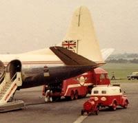 Esso van and aircraft fuel tanker, at Elmdon Airport (Birmingham)
