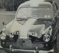 Front view of Frank's car