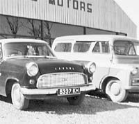 Ford and Bedford parked alongside each other