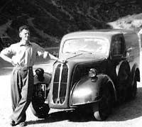 Fordson 5cwt van at Cheddar Gorge