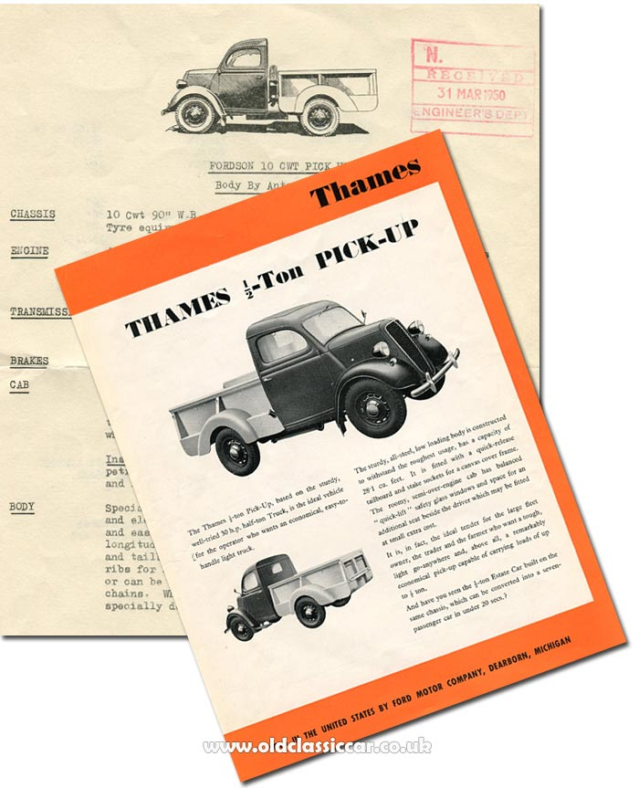 Leaflet for the 1/2 to pickup truck