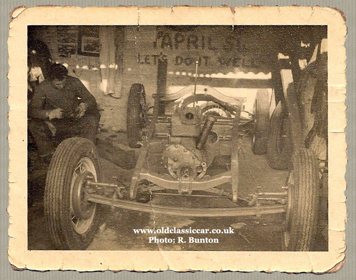 The Model A stripped to its chassis