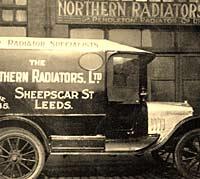 Northern Radiators' van in the 1920s