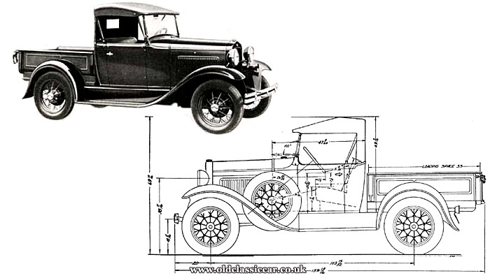 Factory images of the Ford Model A Open Cab pickup