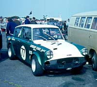 Twin-cam Ford Anglia 105E Lindsay garages