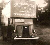 A 1944 Fordson removals van