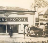 Outside the Ashford Motors premises