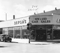 Aston's Garage in the late 1940s