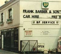 Outside the garage and car hire business