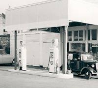 The Bristol garage in the 1950s