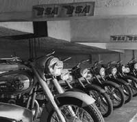 New BSA Bantam motorcycles on display