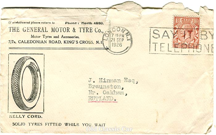 Cover with King George V stamp