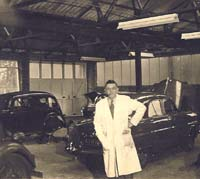 View inside the workshop circa 1955