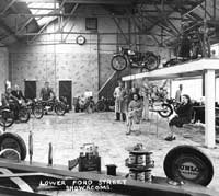 Motorcycles on display at Aston's