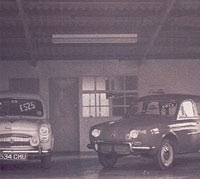 A Renault Dauphine and Ford Prefect 100E on sale