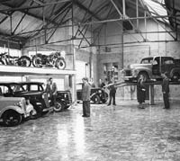 Car showroom circa 1950