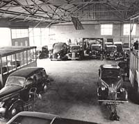 Inside the car repair shop at Spon End in Coventry