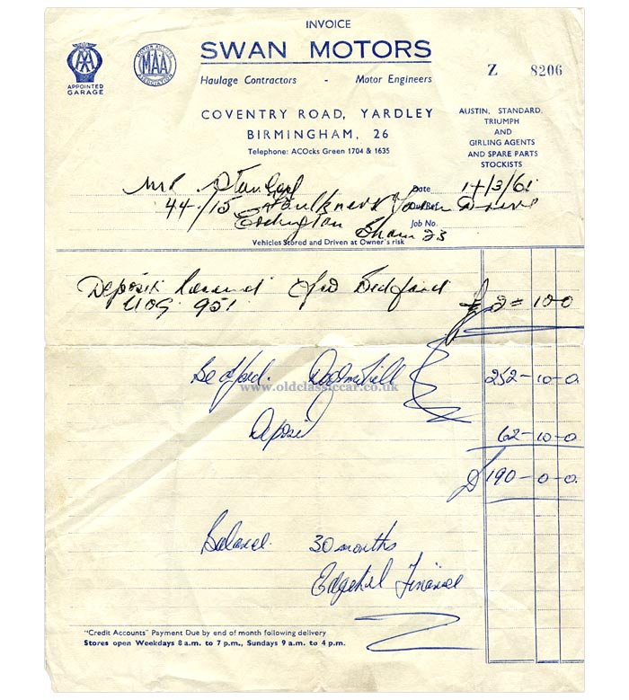 Swan Motors sell a Bedford CA