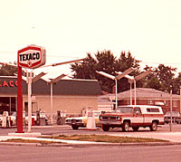 Texaco gas petrol station