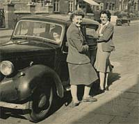 A post-war street scene