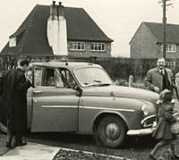 A well-laden Humber Hawk saloon